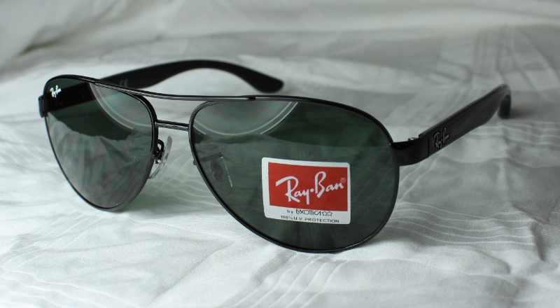 original ray ban sonnenbrille rb 3457 002 71 neu schwarz ebay. Black Bedroom Furniture Sets. Home Design Ideas