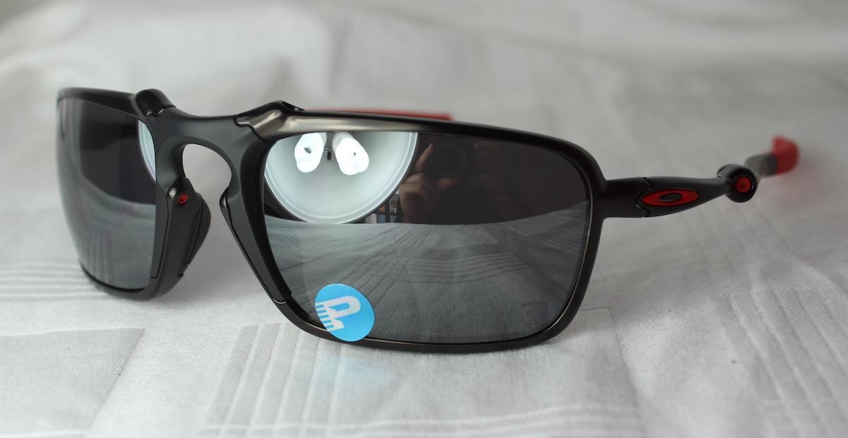 Oakley Badman Ferrari Sonnenbrille Dark Carbon Black Iridium Polarized fQezk